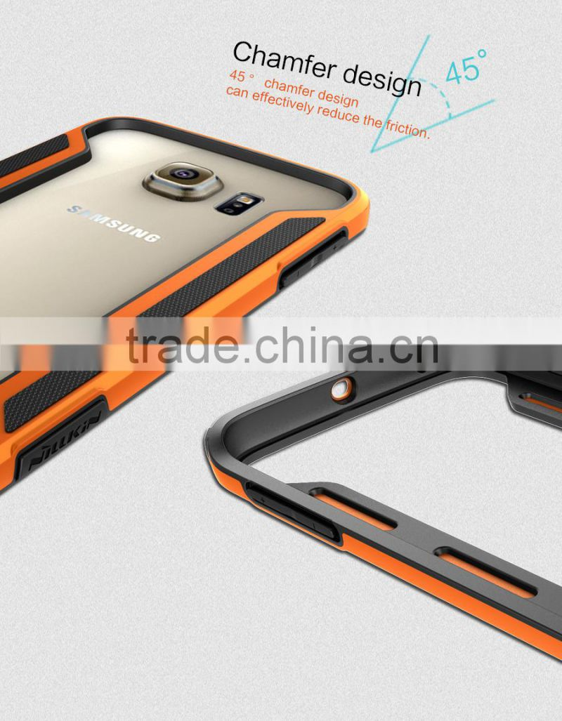 Phone Spare Parts Waterproof TPU Case Metal Frame PC Back Cover Case For Samsung Galaxy S6 Edge