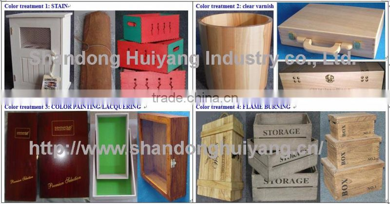 Hot selling Pine wood printed plexiglass window tea box