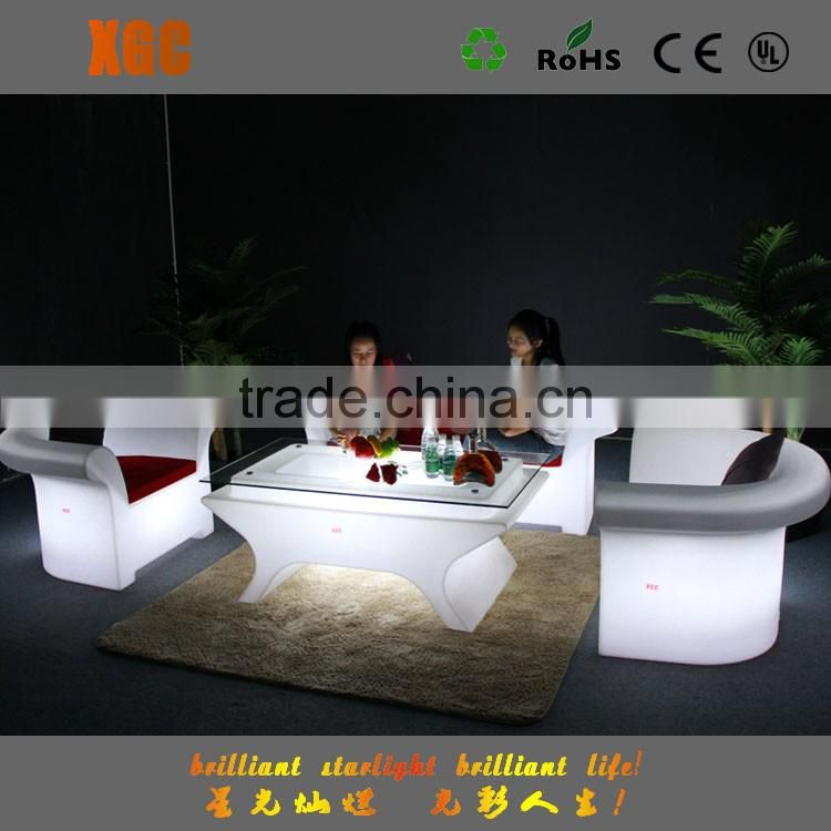 RGB 16 Colorful plastic inflatable sofa led for bar furniture