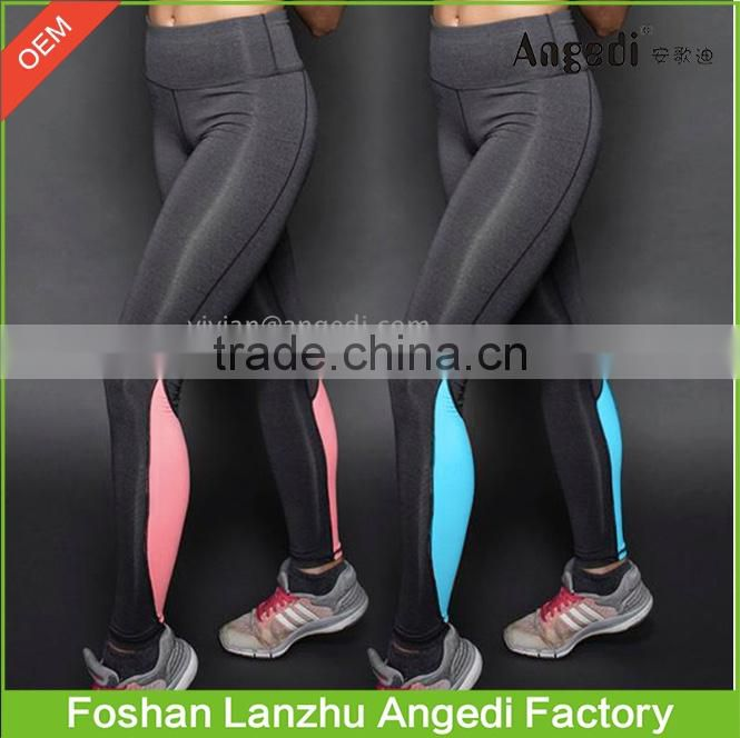 Women Sports Legging Skinny Jogging Bodybuilding Polyester Pants with High Elasticity Gym running workout pants