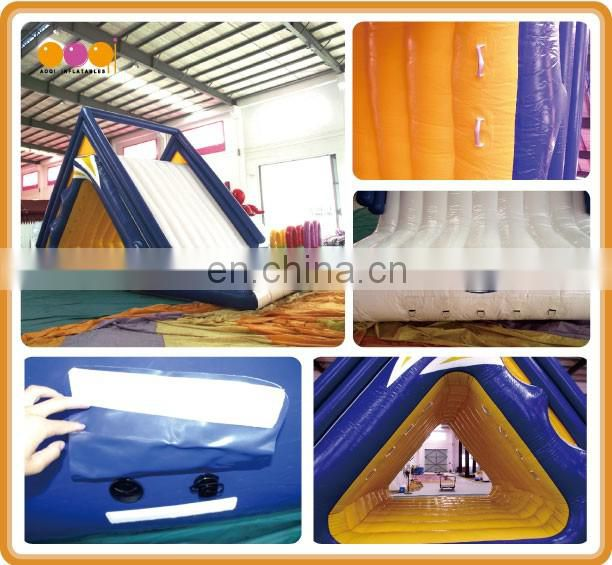 2016 exciting Inflatable sealed water slide used playground slides for sale