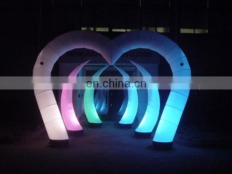 high quality cheap inflatable arch inflatable wedding arches with led light