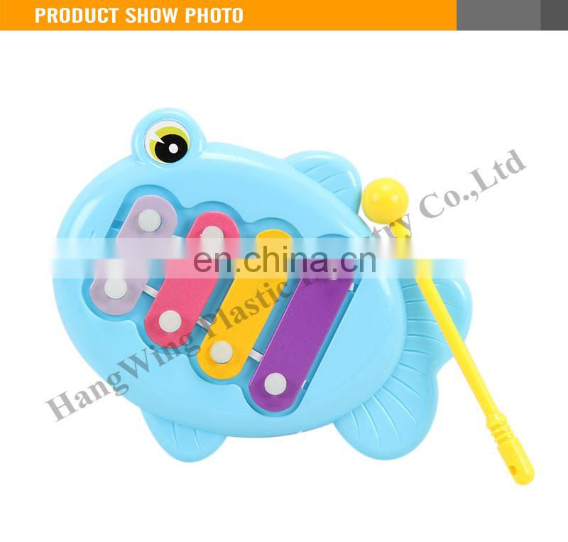 High Quality Plastic Blue Fish Kids Musical Cheap Toy Wolesale