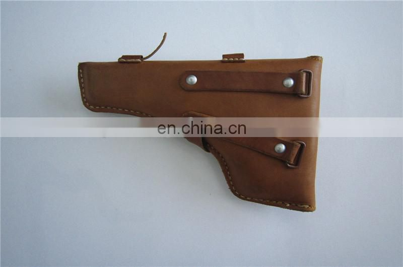 military leather gun holster
