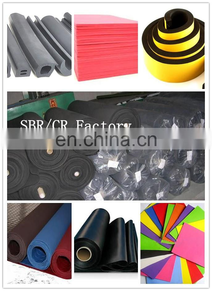 sbr rubber sheet foam
