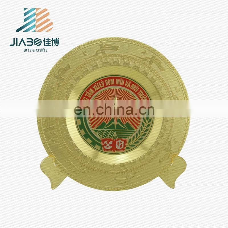 Personalized custom your own logo die casting antique metal souvenir plate