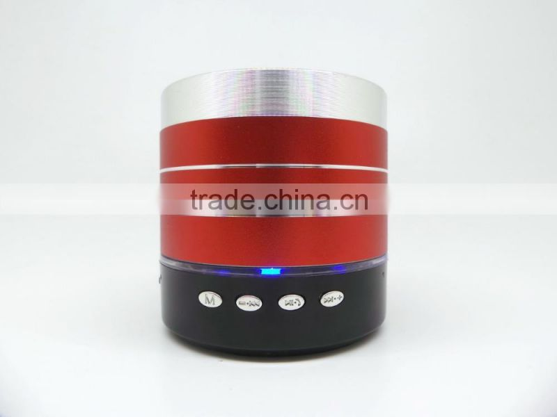 Colorful bluetooth speaker with custom logo printing, hight quality LED lighting wireless speaker, portable music player speaker