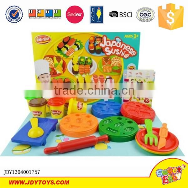 Educational colorful diy toys magic wholesale kids sushi color play dough