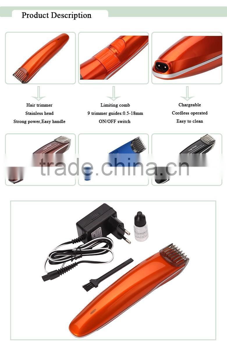 factory price professional Professional AC Hair Clipper Kit / hair cutter / Rechargeable hair trimmer