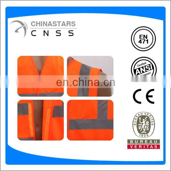 EN471 high visibility custom safety vest with reflective tape
