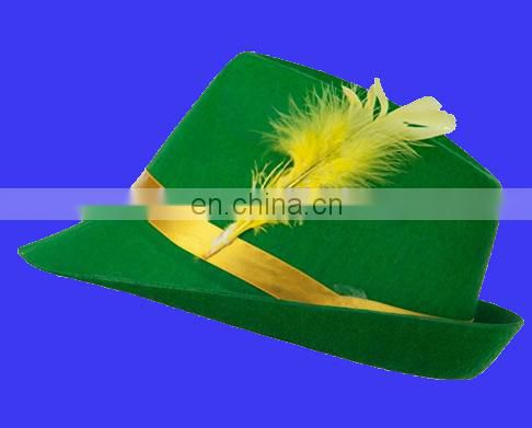 2017 cheapest green Felt Bavarian Hat with Feather
