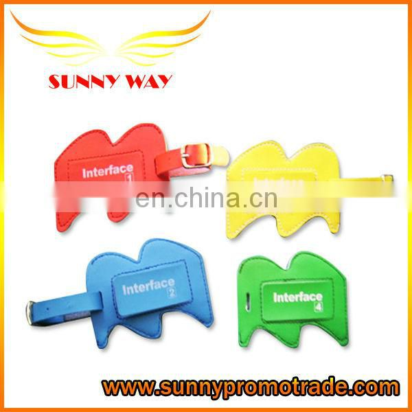 2013 Heart shape PU luggage tag for promotion gifts