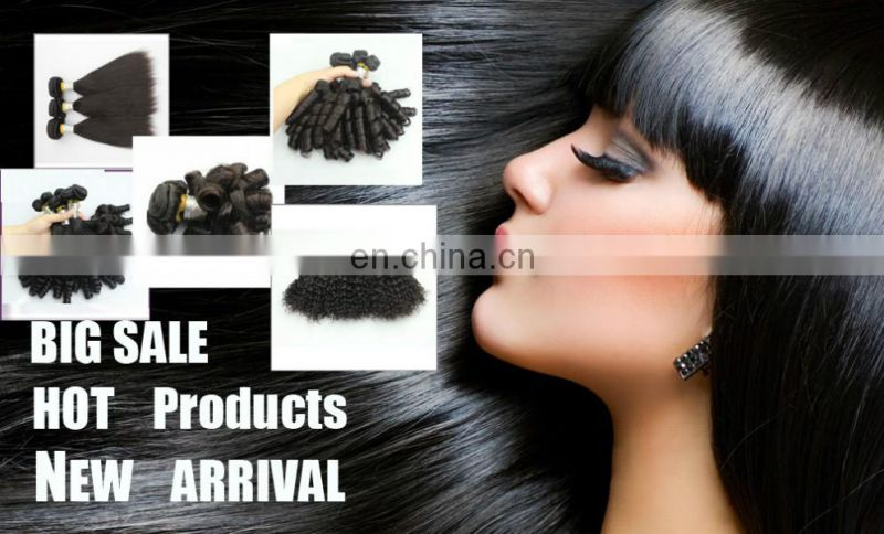 brazilian human hair half wig clip in hair extensions remy hair half wig