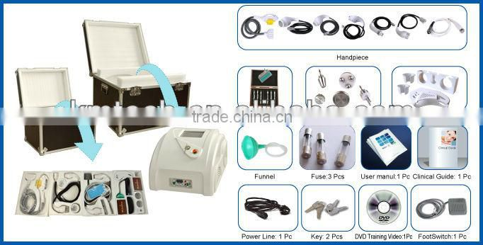 Latest multi-function 9 in 1 ultrasonic liposuction with ipl elight for beauty salons