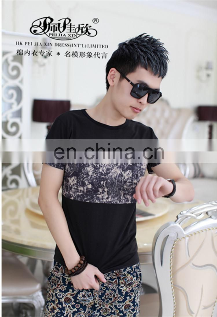 Peijiaxin Latest Design Casual Style Cheap Mosaic Printed Rock T-shirt