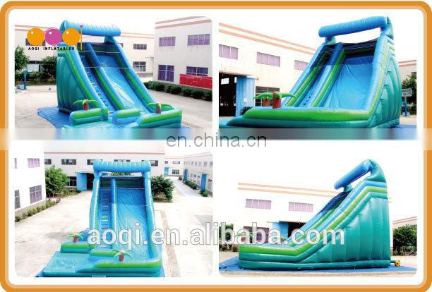 AOQI with free EN14960 certificate giant inflatable water slide for adult