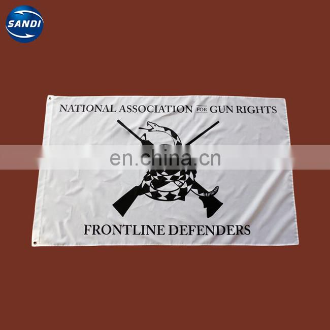Outdoor heat sublimation knitting fabric national safety flag
