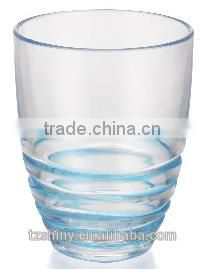 Promotional Gift PS Swirl Wine Glass Plastic Swirl Tumbler Plastic Goblet with Different Color