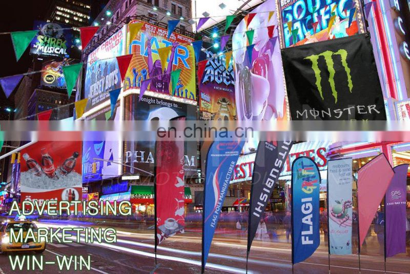 outdoor advertising promotion custom cheap banner teardrop flag