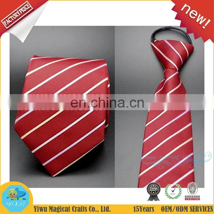 Zipper Tie 8cm Lazy Necktie Easy To Pull Men's Commercial Formal Suit Wedding Banquet Business Bridegroom