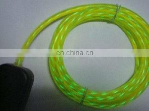 16 year factory whole sale 3mm chasing EL wire, multi color chasing flowing water el rope light
