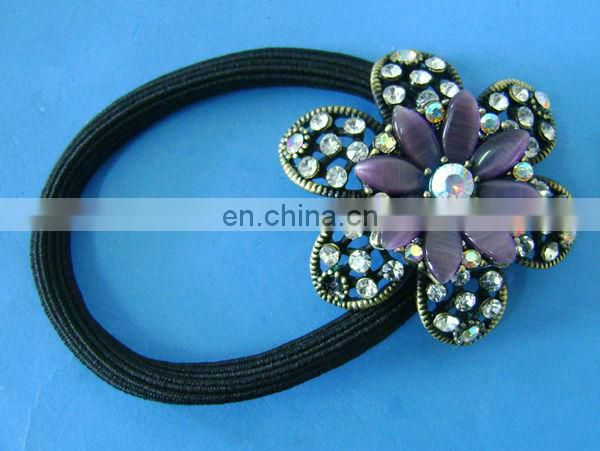 Fashion butterfly elastic ponytail holder hairband