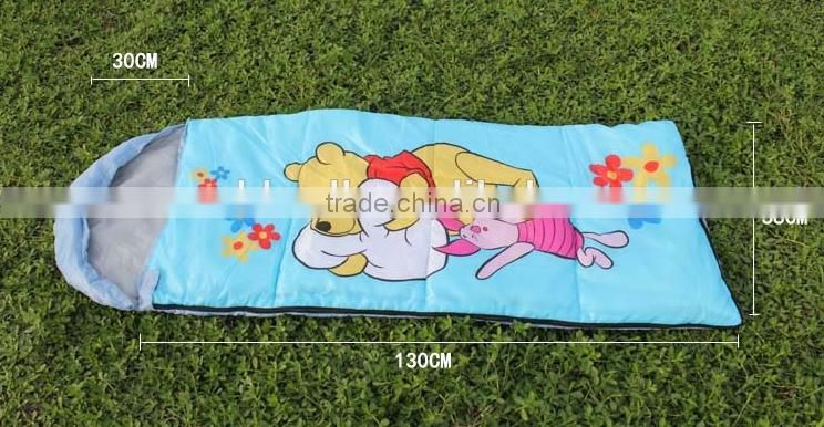 Outdoor travel camping envelope child cartoon sleeping bag