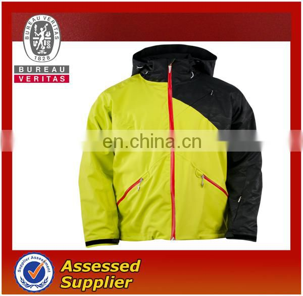 cheap winter jackets yellow and black color