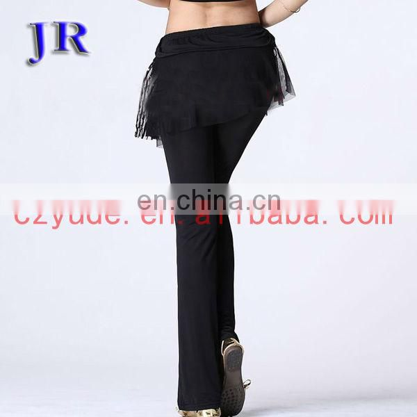 Indian performance belly dance long pant for women K-4021#
