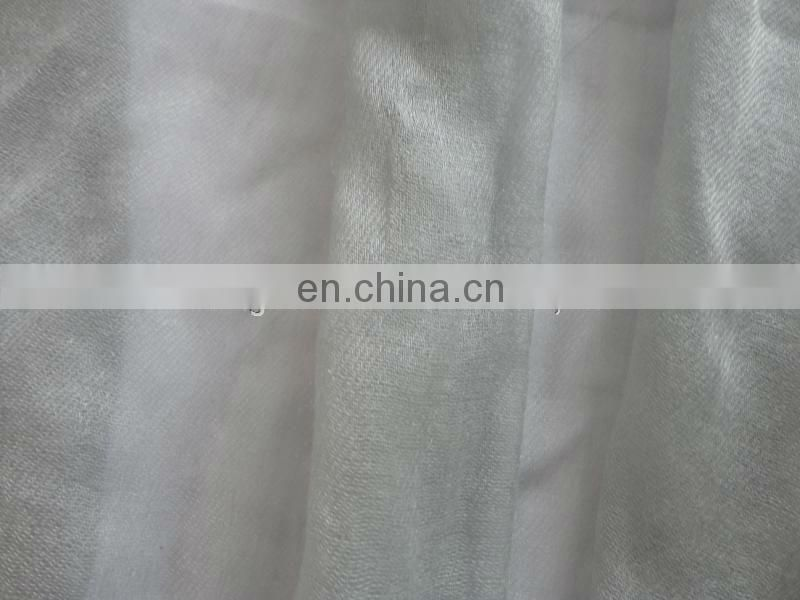 200S/1 worsted woven 100% cashmere scarf fabric