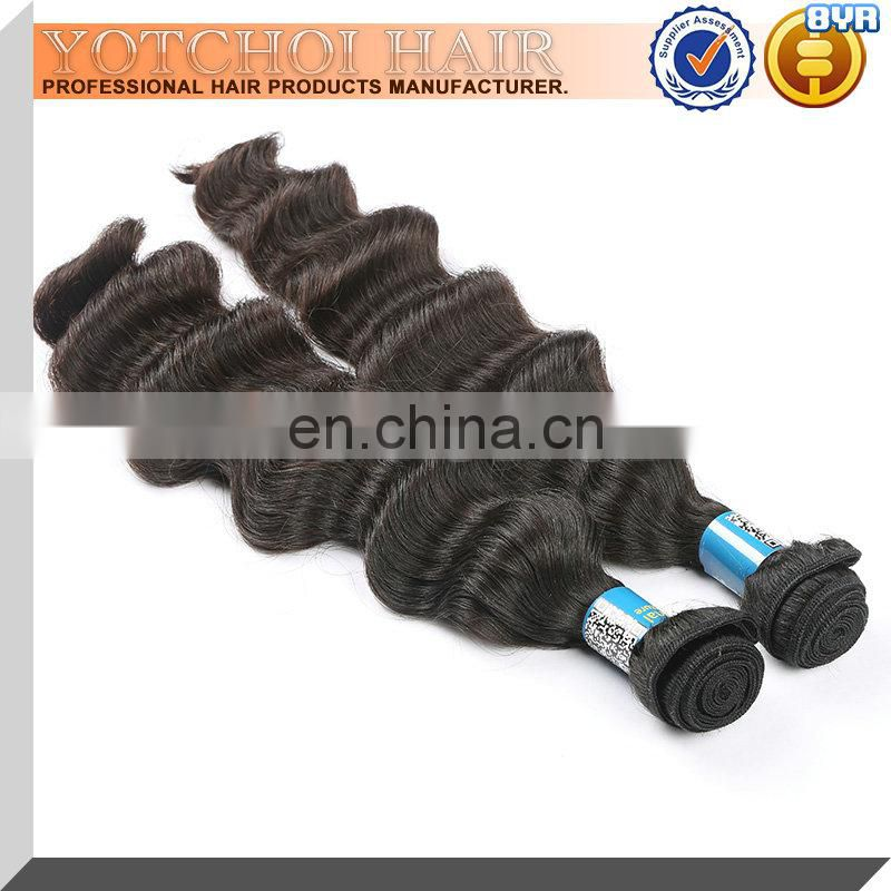 chinese virgin human hair weft/hair weaving/hair extension