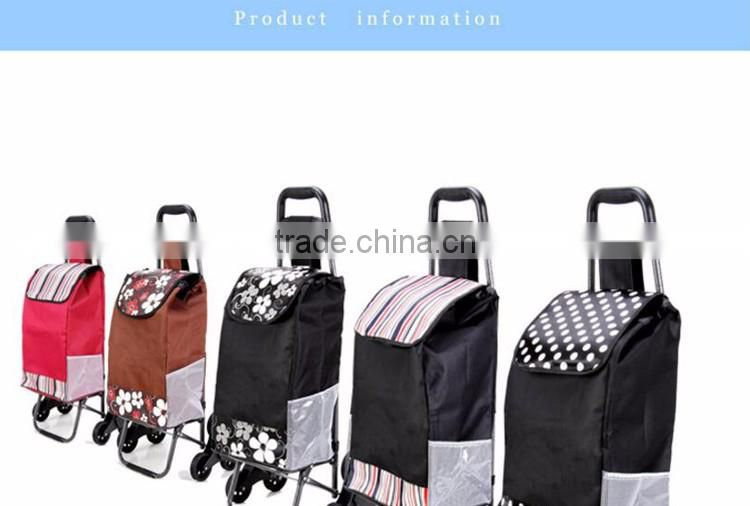stair shopping cart foldable trolley luggage cart metal shopping bag with wheel