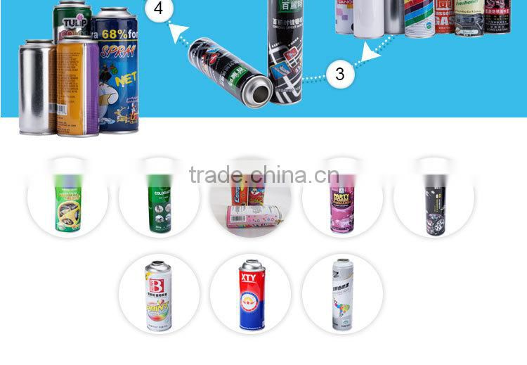 Empty refillable aerosol spray can from factory with Metal Tin Can