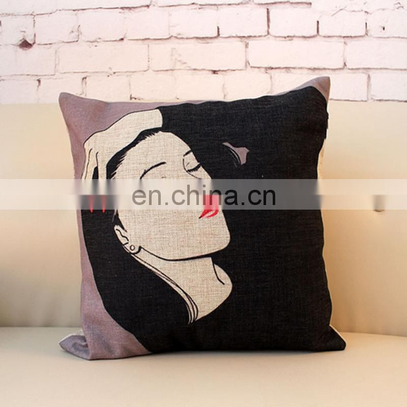 Hot Sale Creative girl Pattern Decorative Pillows,Christmas Decorations Printing Cushion,Cushion Covers Can Be Customized