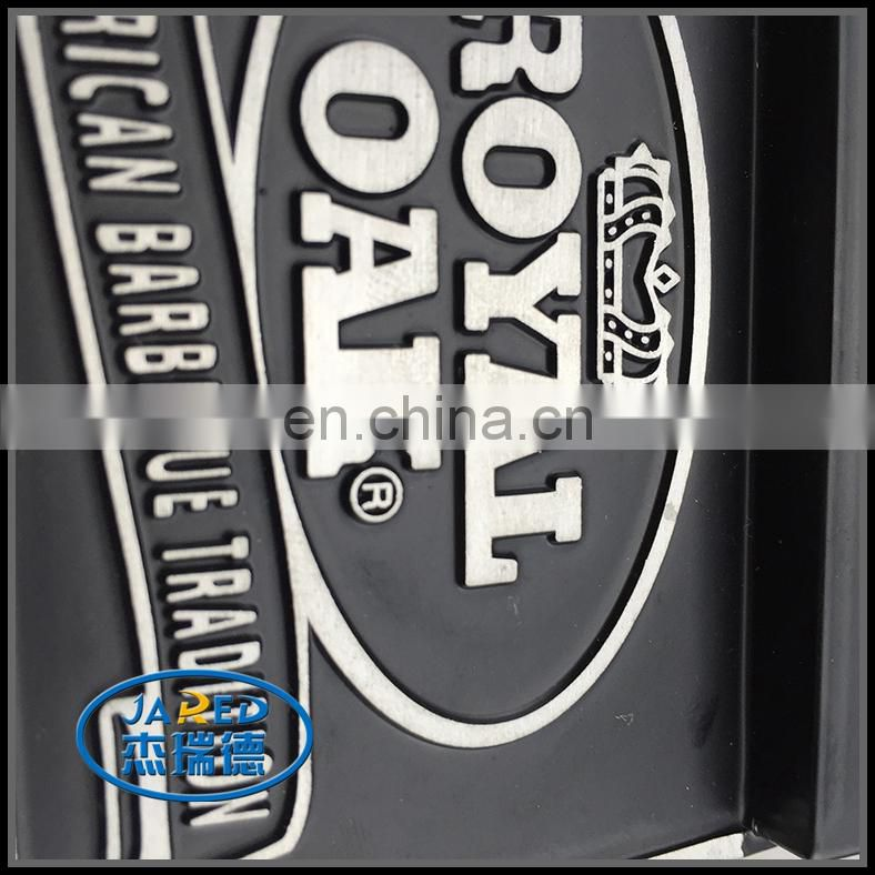 custom metal 3d aluminum embossed label badge