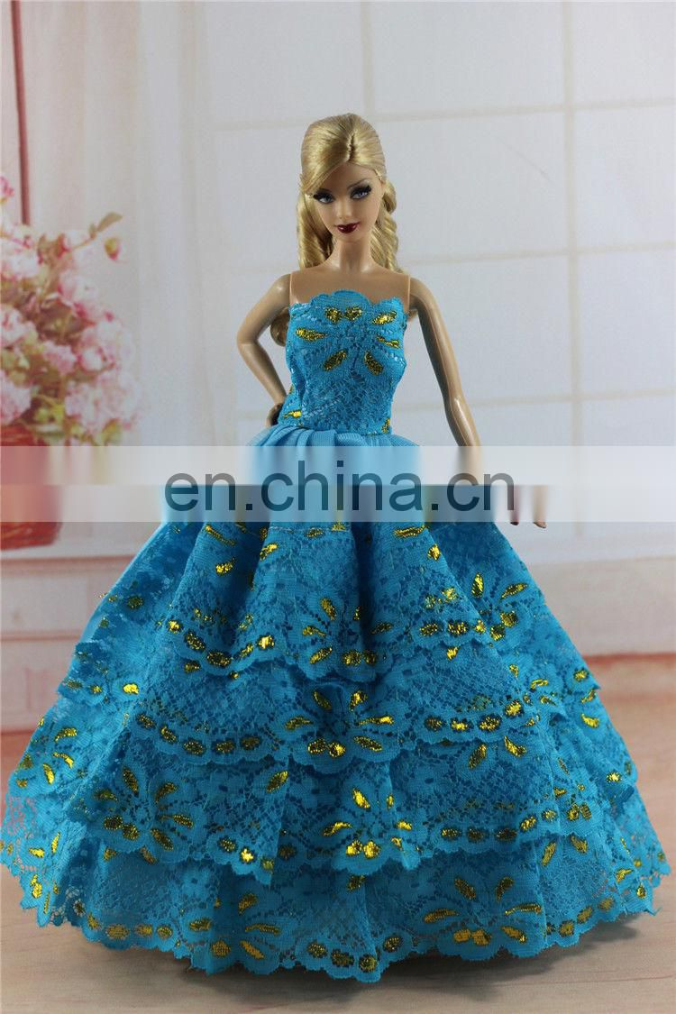 Blue Fashion Princess Party Doll Clothes
