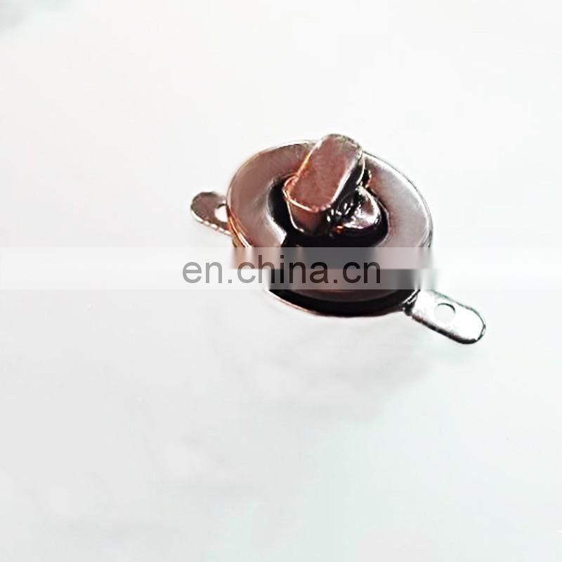 Handmade polishing gun metal color bag clasp