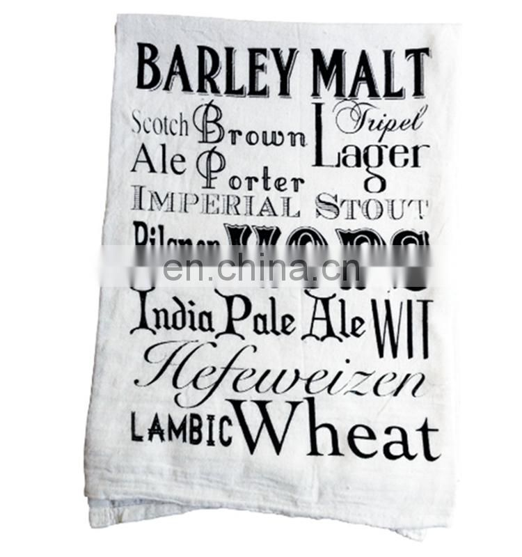 100% cotton new products words printed cotton tea towel