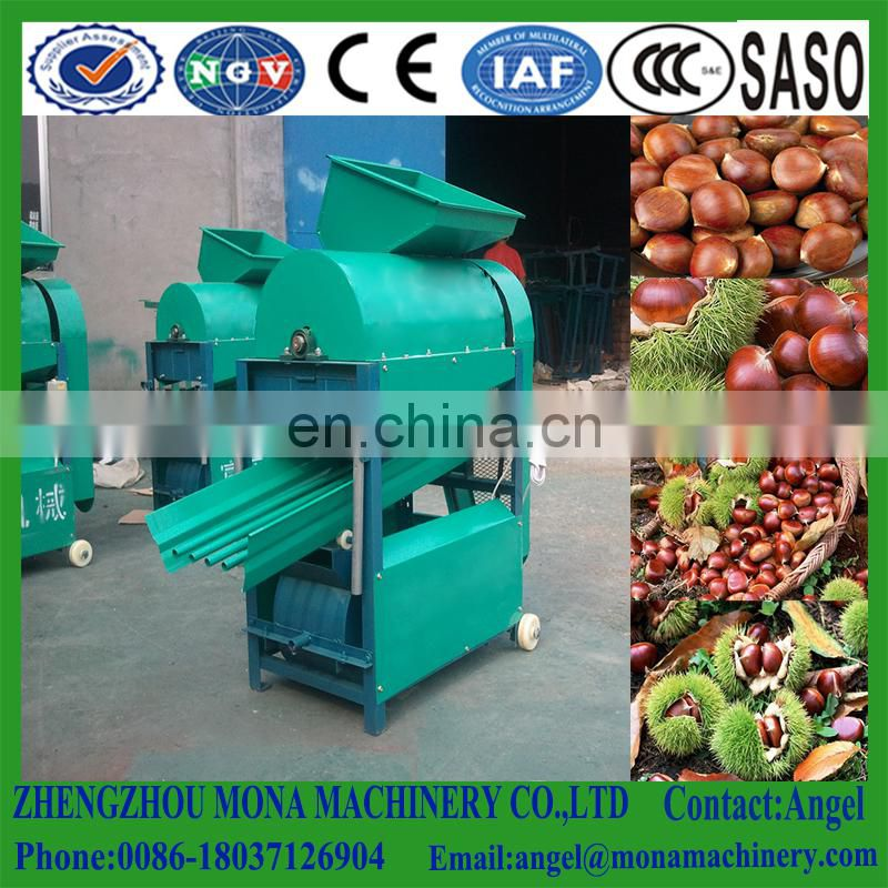 Large capacity automatic deburring chinese chestnut husker machine for sale Image