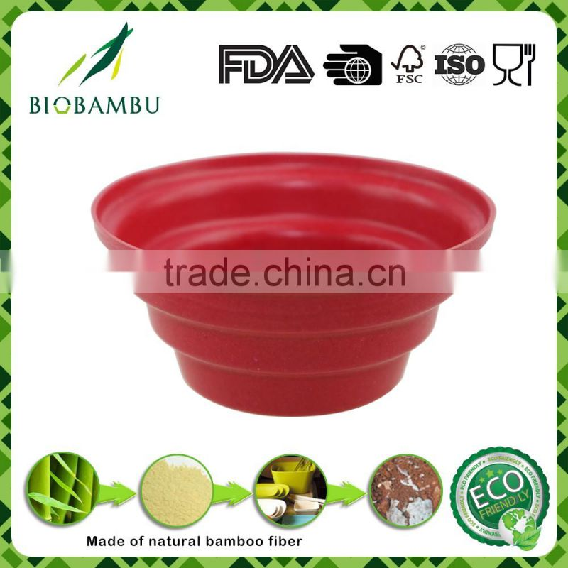 Fashionable Best design Diswasher safe bamboo fiber recyled garden planter pot