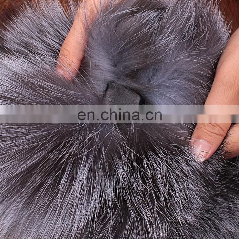Factory wholesale natural fox fur collar shawl for winter warm