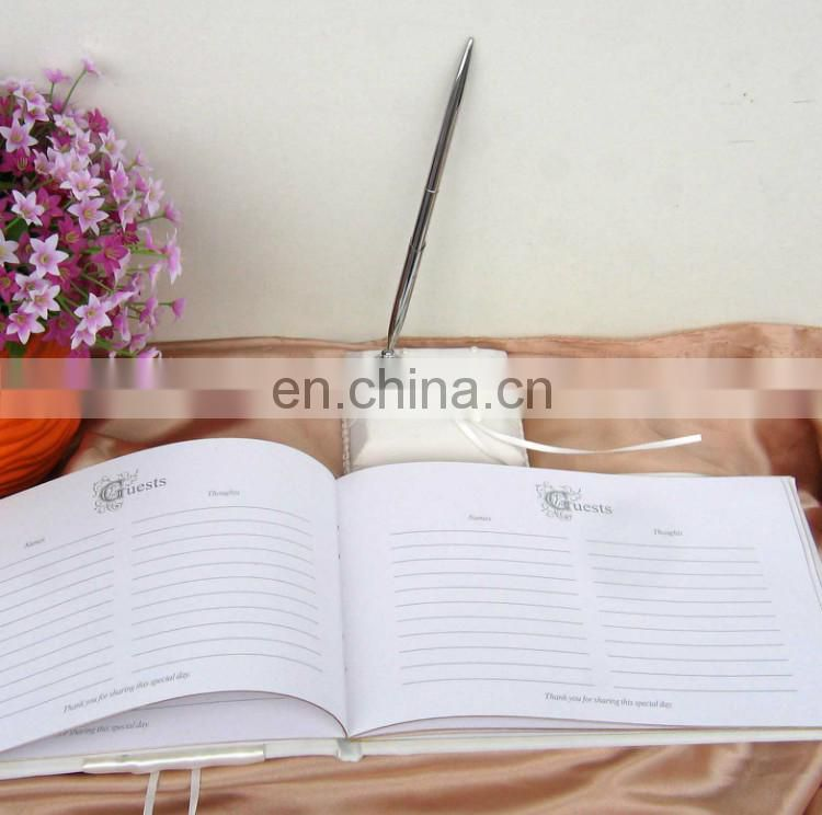 Exquisite beads Decoration guest book /pen holder/ring pillow/flower basket set china wholesale wedding favor dropship supplier