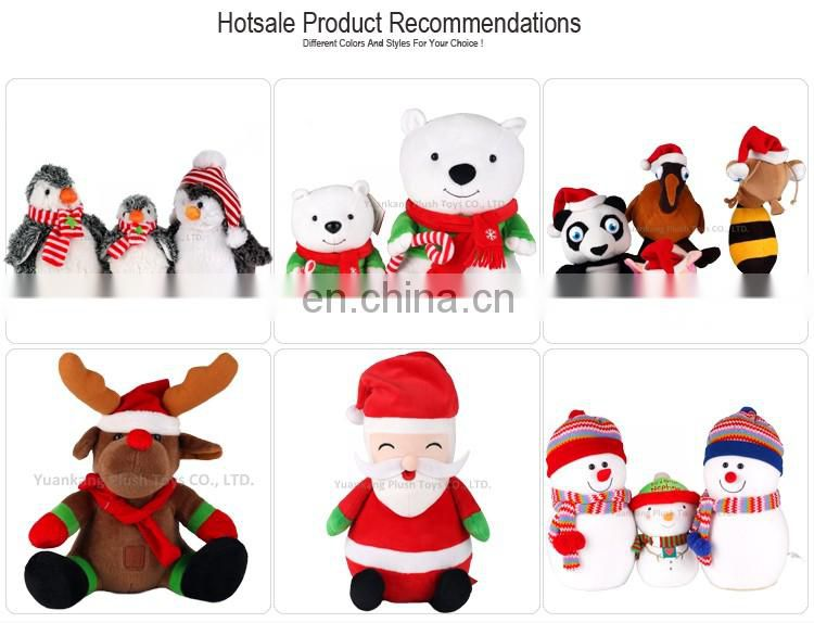 2017 Christmas Plush Big Musical Santa Claus Doll for Gift