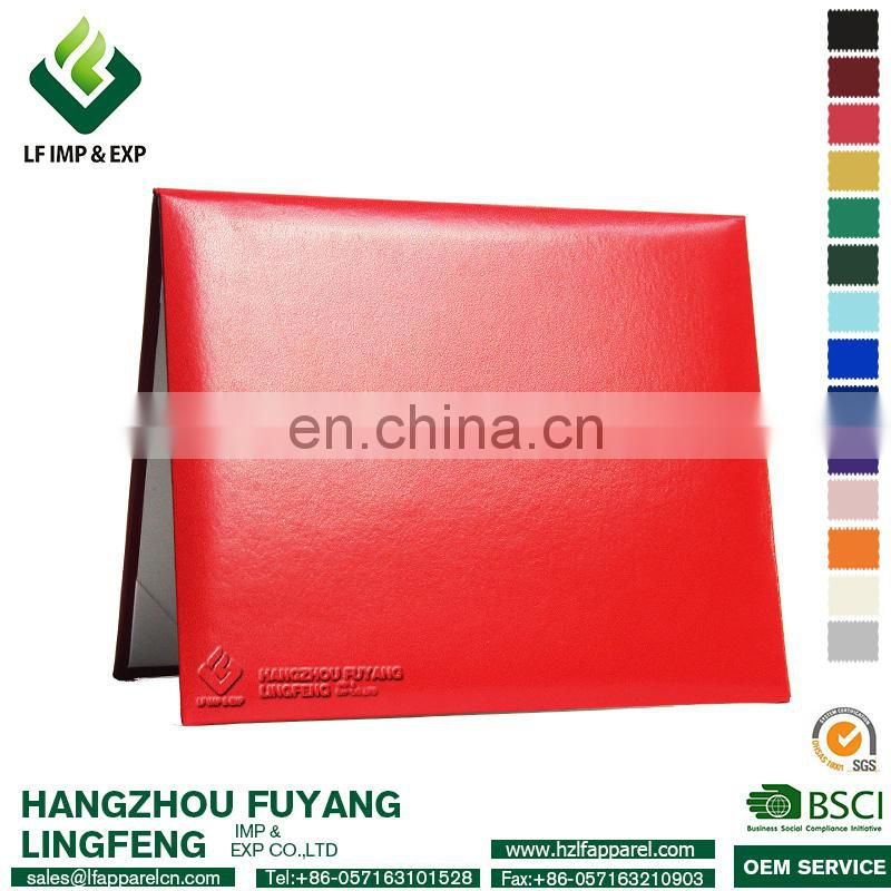 Leather Diploma Cover, Certificate Holder Red Cover