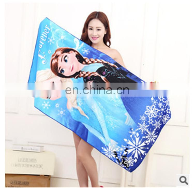Custom Printed Microfiber Beach Frozen Towel