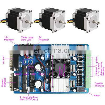 CNC Kit 23 Stepper Motor 76MM * 3 + TB6560 Driver Controller