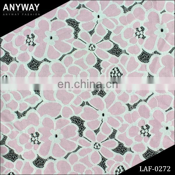 Textile Selling New Design100% Cotton Fabrics Crochet Cord Lace Guipure Lace Cupion Lace Dress