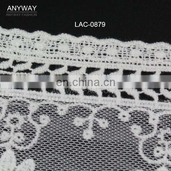 Hot selling india cotton embroidery lace
