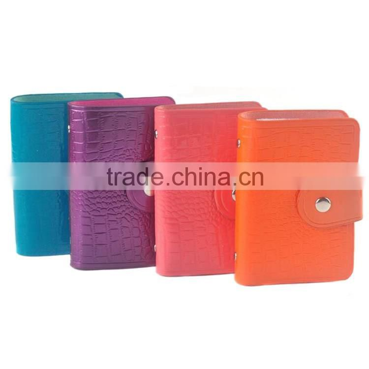 Custom patent leather business card holder eco-friendly pvc card holder recyclable pvc card holder