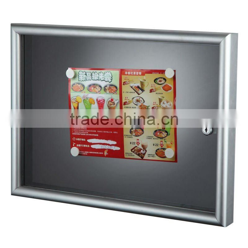 Alu frame notice board with magnet